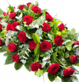 Rose Coffin Spray